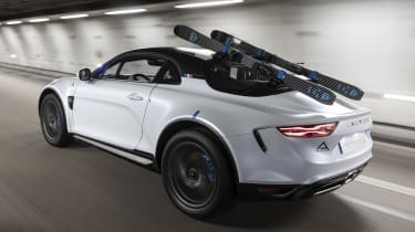Alpine A110 SportsX - rear tracking