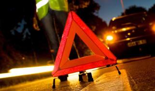 Emergency breakdown light in the road
