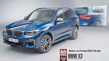 BMW X3 - 2019 Mid-size Premium SUV of the Year