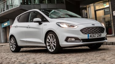 Ford Fiesta Vignale - static cobbled street