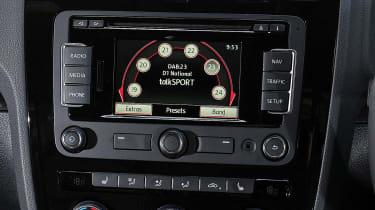 VW Scirocco R-Line - infotainment display