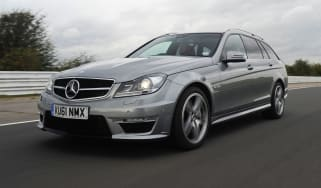 Mercedes C63 AMG Estate front tracking