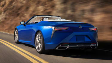 Lexus LC Convertible - rear cornering