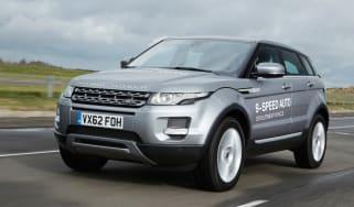 Range Rover Evoque nine-speed front tracking