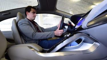 Jaguar I-Pace prototype 2017 - Lawrence driving