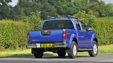 Updates from 2012 have given the Navara a new front bumper and grille.