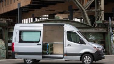 Mercedes Sprinter - side door open
