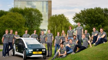 Flax fibre car - team photo