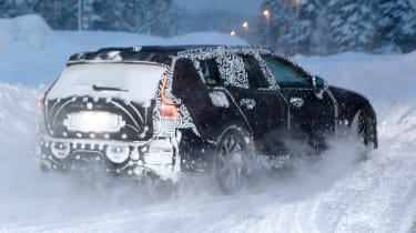 Volvo V60 spied - rear