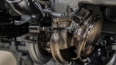 Aston Martin 5.2-litre twin-turbo V12 engine - detail 2
