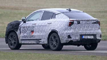 Lynk & Co Coupe-SUV spied - rear 3/4 tracking