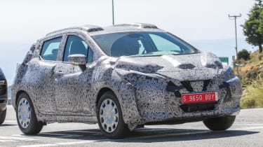 Nissan Micra 2017 spies front side