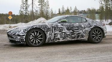 Aston Martin V8 Vantage mule side