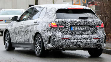 bmw 1 series spy shot rear quarter