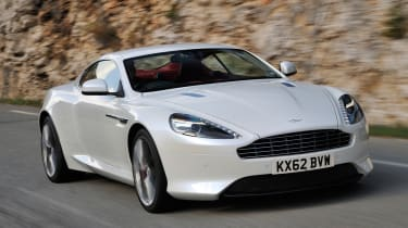 New Aston Martin DB9 front action