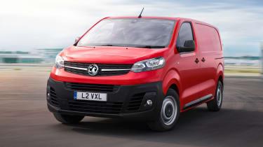 Vauxhall Vivaro - front action