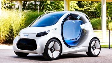 Smart Vision EQ ForFour concept - front static