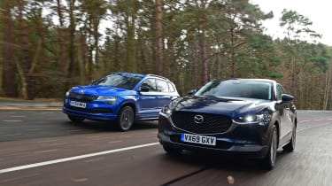 Mazda CX-30 vs Skoda Karoq - header