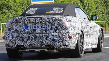 BMW M4 Convertible spied - rear tracking