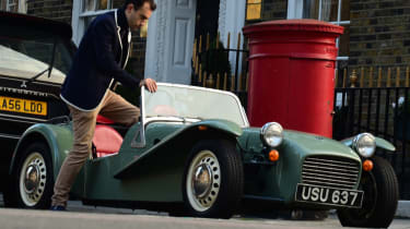 Caterham Seven road trip - step in