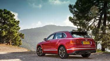Bentley Bentayga luxury SUV rear quarter