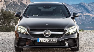 New Mercedes C-Class Coupe - front