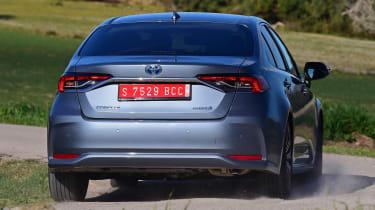 Toyota Corolla saloon  - rear cornering