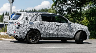 Mercedes AMG GLE 63 spy shot side