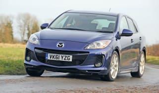 Mazda 3 front cornering