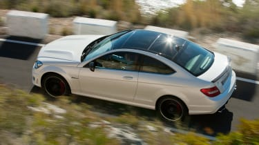 Mercedes C63 AMG Coupe from above