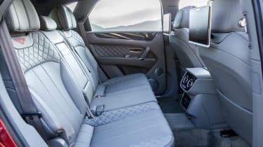 Bentley Bentayga luxury SUV rear seats