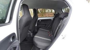 Volkswagen e-up! electric car 2017 - rear seats