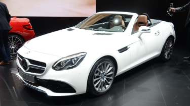 Mercedes SLC white - front show