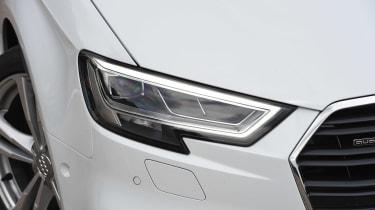 Audi A3 vs Volvo V40 vs Volkswagen Golf - A3 headlight