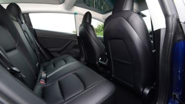 Tesla Model 3 Long Range - rear seats