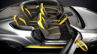 Bentley Continental GT Speed Black Edition yellow trim