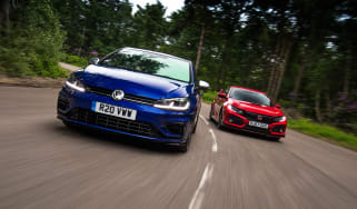 Volkswagen Golf R vs Honda Civic Type R - header