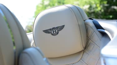 Bentley Continental GT Convertible - seat detail