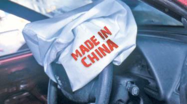 Fake airbag crash risk