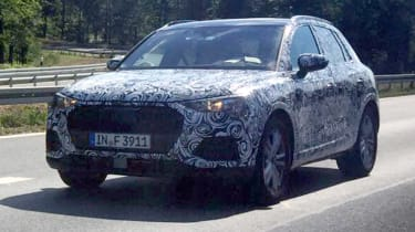 2018 Audi Q3 spy shot front quarter