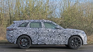 Range Rover Velar SVR spy shot side profile