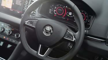 skoda karoq sportline steering wheel