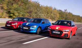 Vauxhall Corsa vs Peugeot 208 vs Audi A1 - header