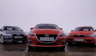 Mazda 3 vs Audi A3 Sportback & BMW 1 Series