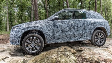 Mercedes GLE prototype - off-road action