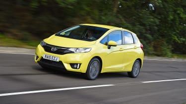 Honda Jazz yellow front tracking