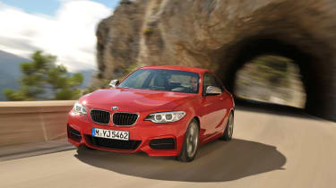 BMW 2 Series coupe 2014 front action