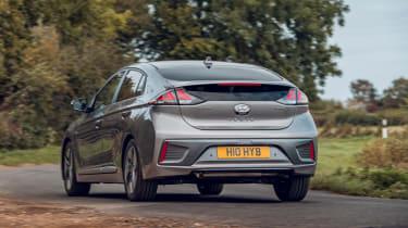 Hyundai Ioniq hybrid rear three-quarter