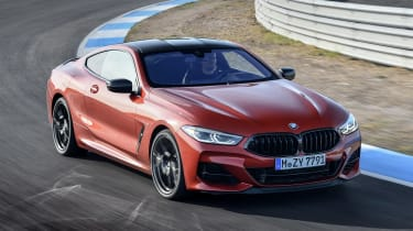 BMW 8 Series - track front cornering