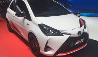 Toyota Yaris GRMN hot hatch 2017 - Geneva front quarter